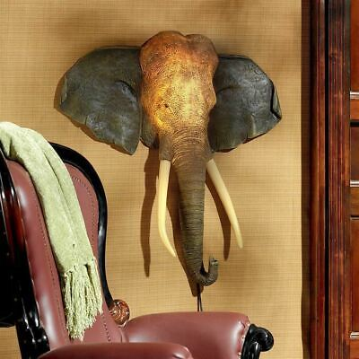 """Good Fortune Elephant 32.5"""" Illuminated Wall Sculpture With LED Lights"""