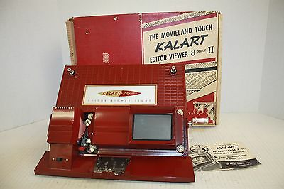 Kalart Film Editor Viewer 8 Mark II 8mm Film Factory Box with Instruction Book