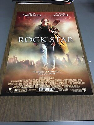 Rock Star movie poster 27x40 DS Mark Wahlberg Jennifer Anniston original used