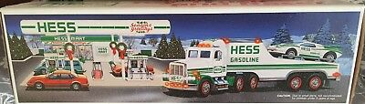 1991 Hess Truck with Racer.  New in box.