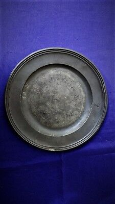 Antique Pewter Plate (Early Methodist Interest)