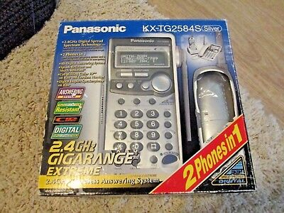 Panasonic KX-TG2584S Silver Small Business Phone system New in box.
