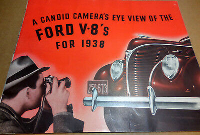 Original 1938 Canadian FORD brochure great 24 page large catalog Scarce