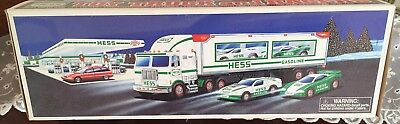 1997 Toy Truck with Two (2) Racers.  New in box.