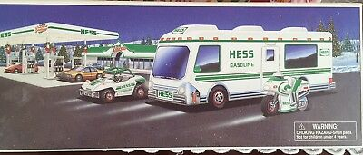 1998 Hess Truck Recreation Van with Dune Buggy and Motorcycle.  New in box.