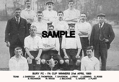 Bury FC 1900 Cup Team Photo