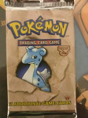 1st edition fossil booster pack Lapras - fresh from booster box!