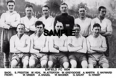 Enfield FC 1934 Team Photo