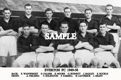 Everton FC 1949 Team Photo