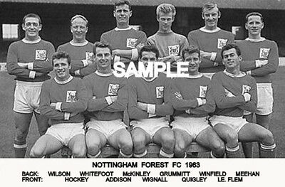 Nottingham Forest FC 1963 Team Photo