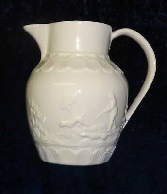 Authentic Leedsware Figured Creamware Large Jug Sauce Milk Perfect