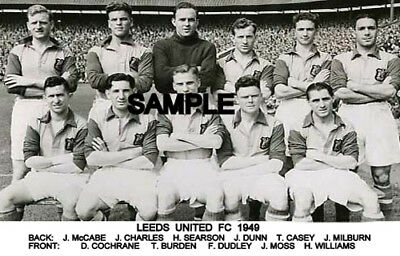 Leeds Utd FC 1949 Team Photo