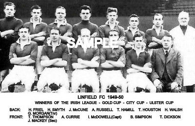 Linfield FC 1949-50 Cup Team Photo