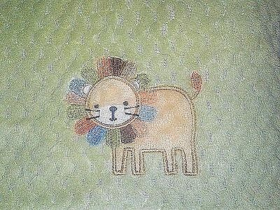 Cuddle Me By Nojo Baby Blanket Green Lion 30x40 Unisex Safari EUC