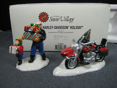 "Dept 56 ""a Harley Davidson Holiday"" 1997 In Box Snow Village Accessory #54898"