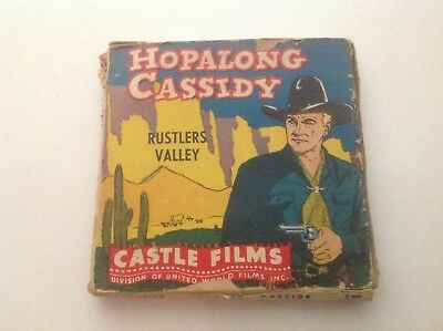VINTAGE HOPALONG CASSIDY 8 mm FILM- RUSTLERS VALLEY- ORIGINAL BOX