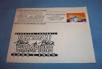 Nebraska Huskers 1994 1995 National Championship Commemorative Postcard A