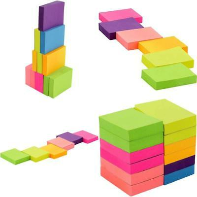 Neon Color Sticky Notes 1200 Reminder 12 Pads 100 Sheets Bookmark Black Friday