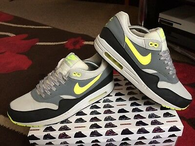 Nike air max 1 Essential size 8.5 Dusty Grey Volt Green Pine Black