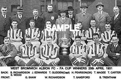 West Bromwich Albion FC 1931 Cup Team Photo