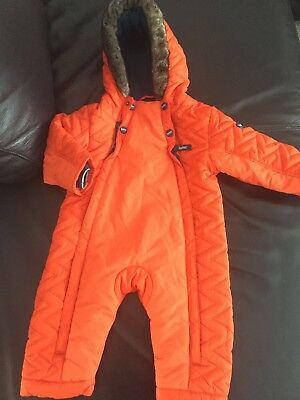 Baby Boy TED BAKER ALL IN ONE winter SNOWSUIT age 9-12 months
