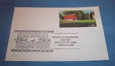 Nebraska Huskers 1994 1995 National Championship Commemorative Postcard B