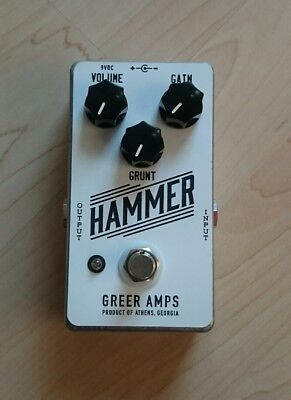 Greer Amps Hammer boutique distortion pedal mint condition with original box OVP