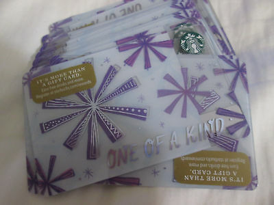 "Lot Of 20 New  2017 Starbucks Christmas ""one Of A Kind"" Gift Card"