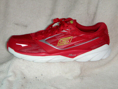 Skechers Goruna Ride 3 mens trainers Visually NEW Red/White UK 9.5 EU 44