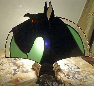 Stained Glass Dog -Giant Schnauzer - Fan Lamp