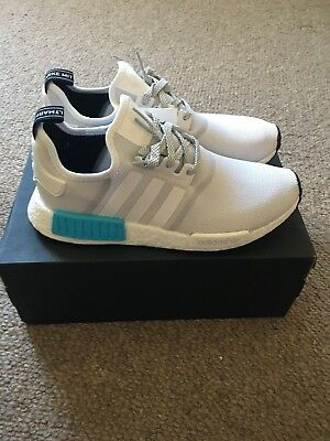 Bnib Deadstock Adidas Nmd_R1 -  Uk9/us9.5/eu 43 1/3 - S31511 - White/bright Cyan
