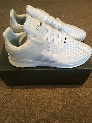 Bnib Adidas Equipment Support Adv - Triple White - Ba8322 - Uk9/us9.5/eu 43 1/3