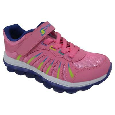 New Girls' S Sport By Skechers Pink All Clear Athletic Shoes Sneakers Size 4