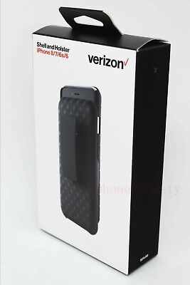 """Verizon OEM Shell Holster Combo Case w/ Clip For iPhone 8 & iPhone 7 4.7"""" - NEW"""