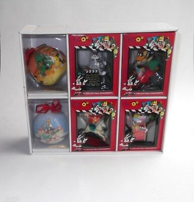 Lot Of 6 Vintage Looney Tunes Christmas Ornaments Boxed 1990's Warner Brothers