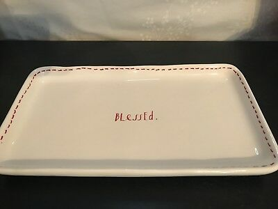 Rae Dunn Blessed Small Holiday Tray