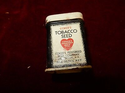 Vintage Coker's Tobacco Seed Company Tin Hartsville SC One Ounce Net
