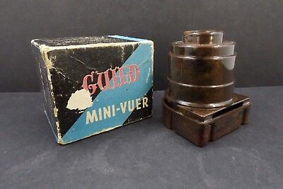 Vintage Guild Mini-Vuer - 35mm Slide Viewer - Brown Swirl Plastic -Hollywood USA