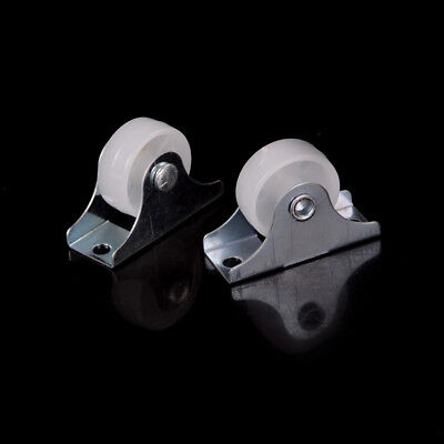 "2pcs 1"" Diameter Caster Wheel Fixed Metal Top Plate Rigid Caster W&T"
