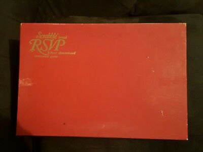 Vintage 1955 SCRABBLE RSVP 3-Dimensional GAME Murfett Complete - Free shipping