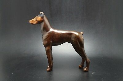 VTG Metal DOBERMAN PINSCHER Dog Nice HEAVY!