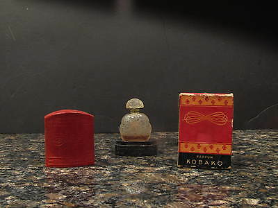 Kobako Bourjois Perfume Bottle and Case IOB with perfume