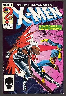 Uncanny X-Men #201 (1986)~1st Cable as baby Nathan~Chris Claremont~FN+