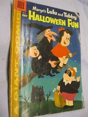 Marge's LITTLE LULU & TUBBY Dell Giant #6 Halloween Fun! Comic Book ~1957