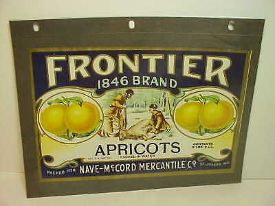 FANTASTIC Frontier Apricots CRATE label  St Joseph Mo  EXC deer hunting graphic
