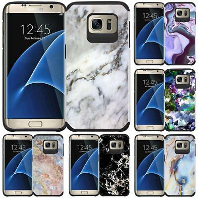 Marble Design Hybrid Case Protective Phone Cover for Samsung Galaxy S7 EDGE
