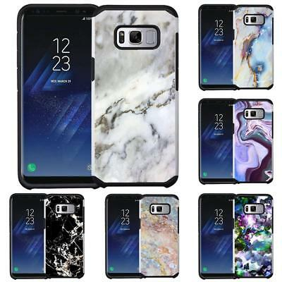 Marble Design Hybrid Armor Case Protective Phone Cover for Samsung Galaxy S8