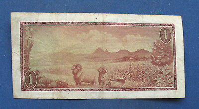 South Africa 1 Rand, 1966-1984. VF. Landscape, sheep.