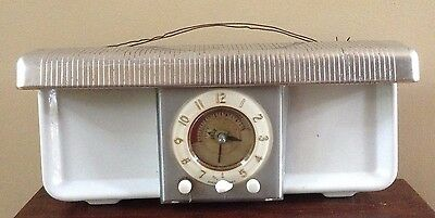 Antique VTG General Electric Range Timer With Light Stove Top Oven White Chrome