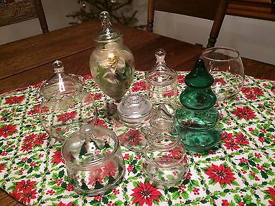 Vtg Lot Glass Display Candy Bar Buffet Jar Wedding Christmas Party
